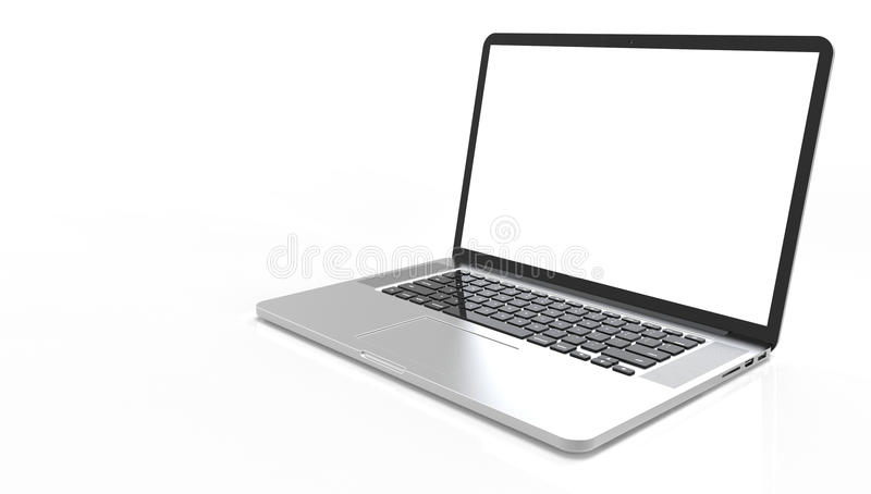 Computador portátil moderno fotografia de stock
