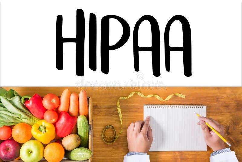 Computador profissional do uso do doutor de HIPAA e equipamento médico todos imagem de stock