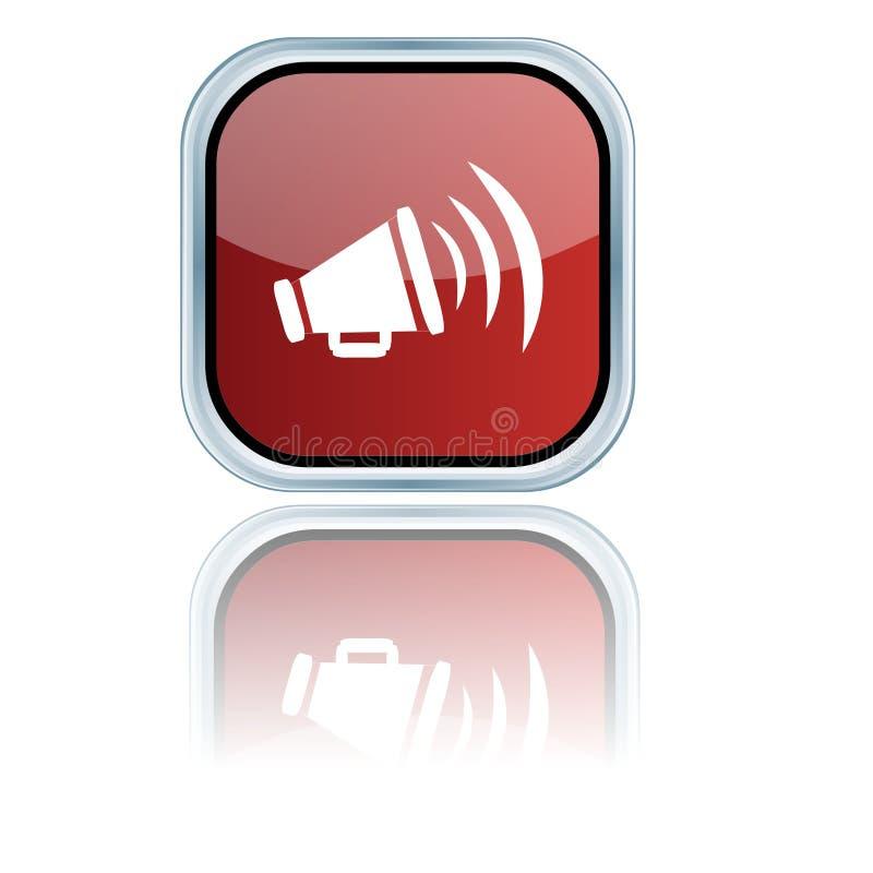 Computador social do blogue dos meios como o ícone ilustração stock
