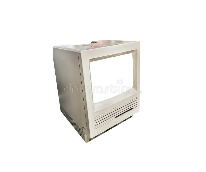 Computador vintage fechado isolado em branco fotos de stock