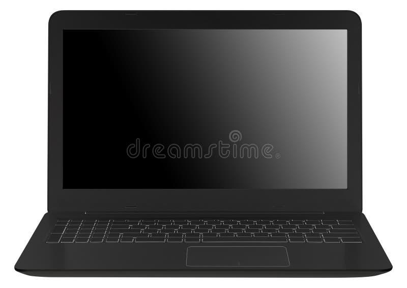 Computadora portátil aislada en blanco imagen de archivo libre de regalías