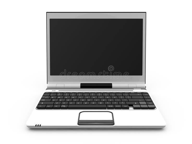 Computadora portátil blanca fotografía de archivo