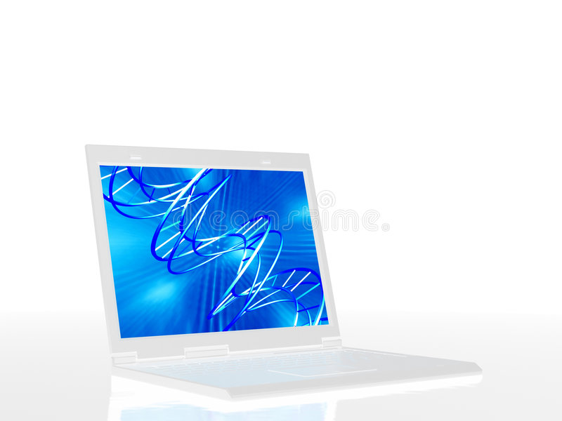 Computadora portátil con el camino de recortes fotografía de archivo libre de regalías