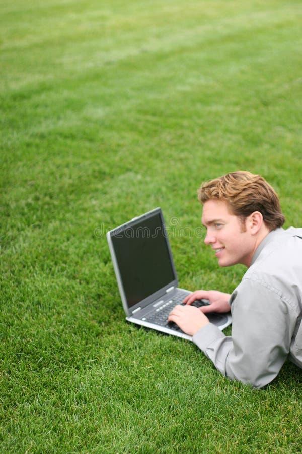 Computadora portátil del asunto imagen de archivo