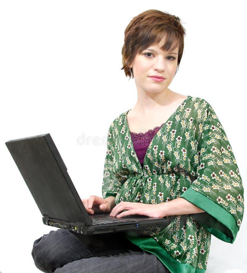 computadora portátil del estudiante fotografía de archivo libre de regalías