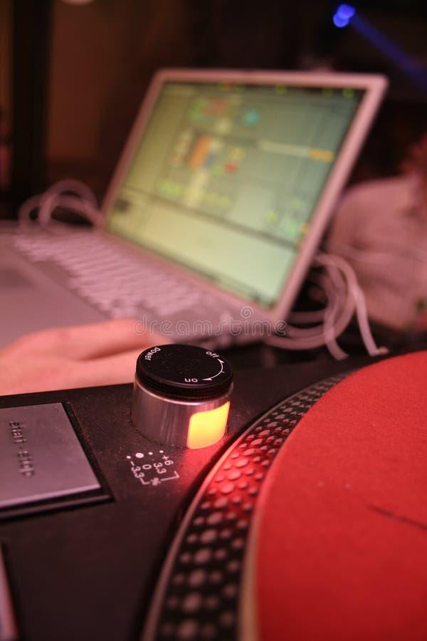 Computadora portátil - DJ 3 fotos de archivo libres de regalías