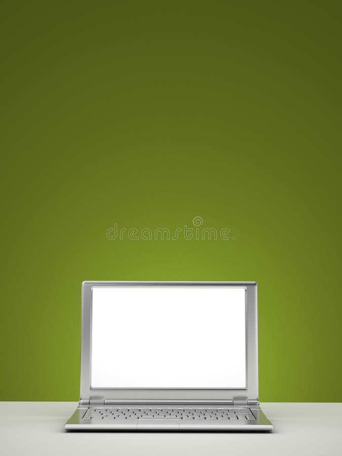 Computadora portátil en blanco imagen de archivo libre de regalías
