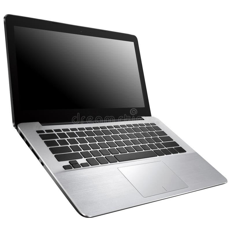 Computadora portátil en un fondo blanco fotos de archivo libres de regalías
