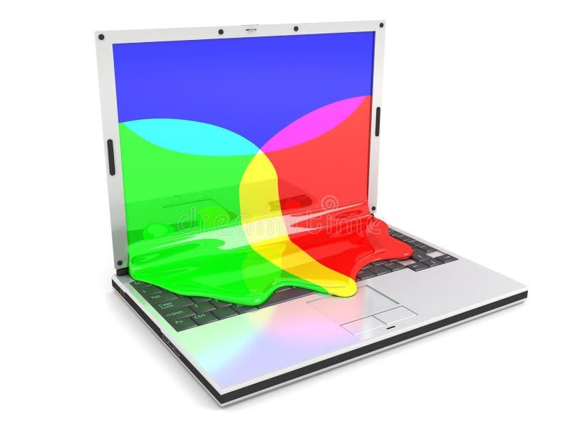 Computadora portátil RGB libre illustration