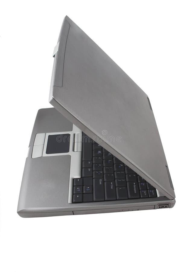 Computadora portátil semicerrada foto de archivo libre de regalías