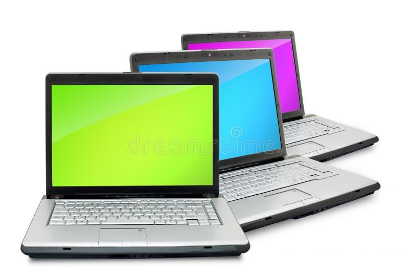 Computadoras portátiles foto de archivo