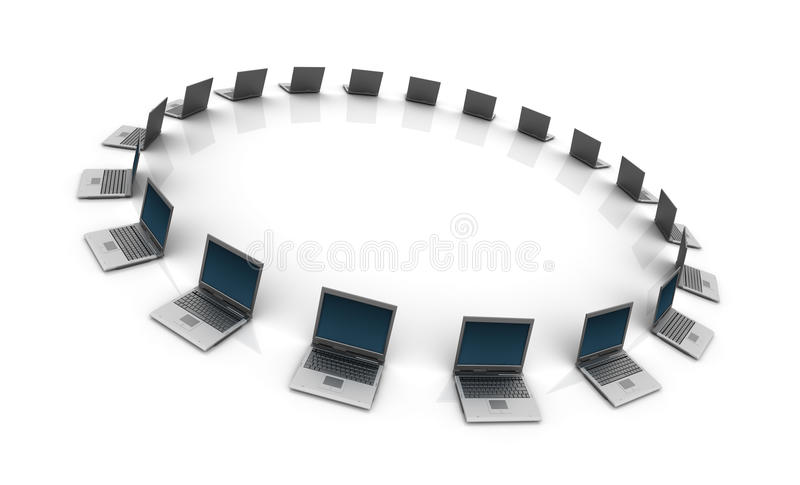 Computadoras portátiles fotografía de archivo libre de regalías
