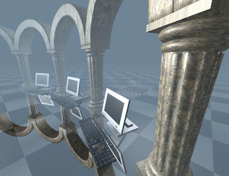 Computadores ilustração royalty free