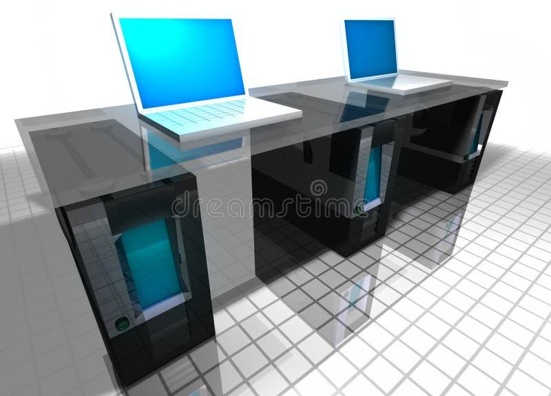 Computadores ilustração stock