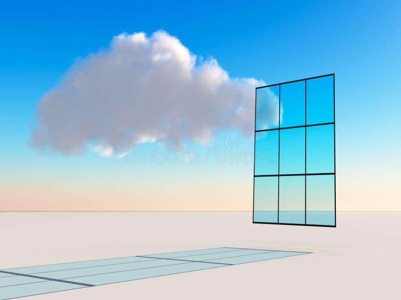 Computazione astratta della nuvola royalty illustrazione gratis