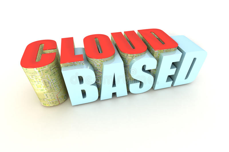Computazione basata nube illustrazione vettoriale