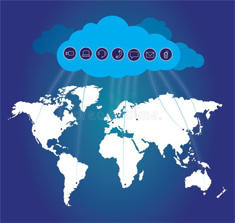 Computazione della nube illustrazione vettoriale