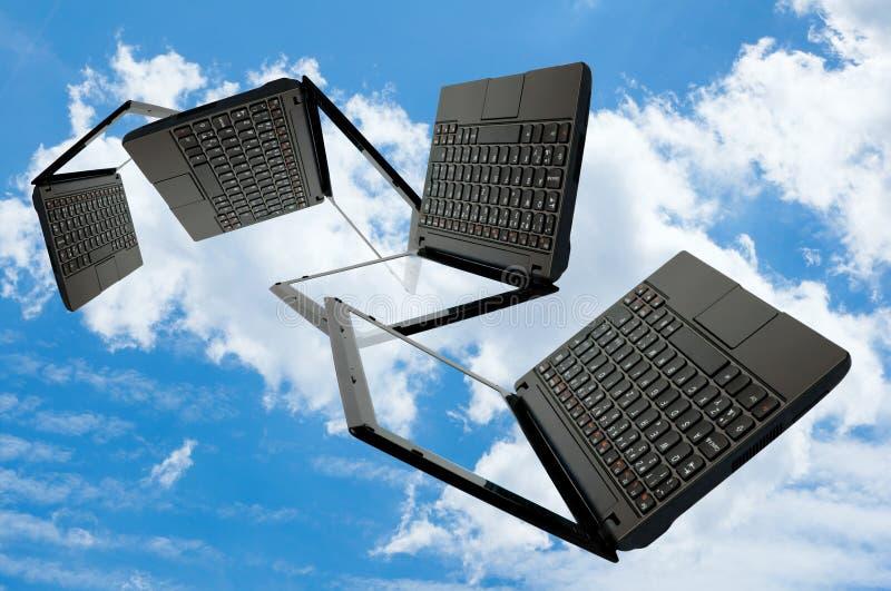 Computazione della nuvola fotografie stock