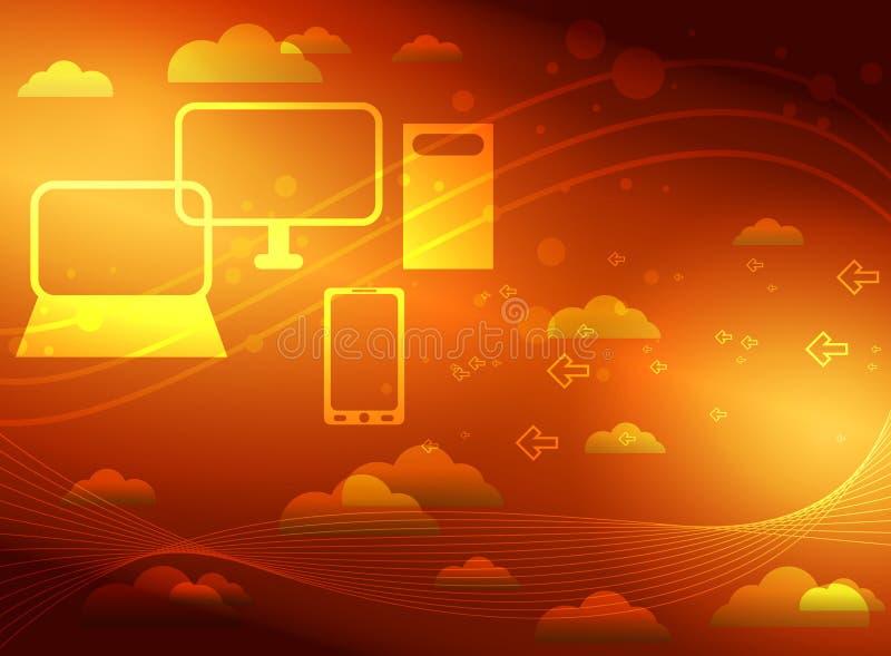 Computazione della nuvola illustrazione di stock