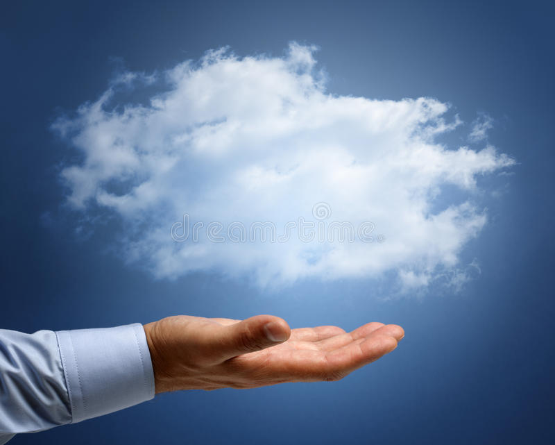 Computazione della nuvola o sogni e concetto di aspirazioni fotografie stock