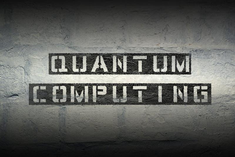 Computazione di Quantum gr immagine stock