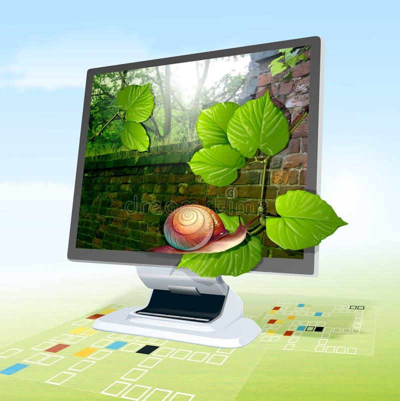 Computer-Überwachungsgerät stock abbildung