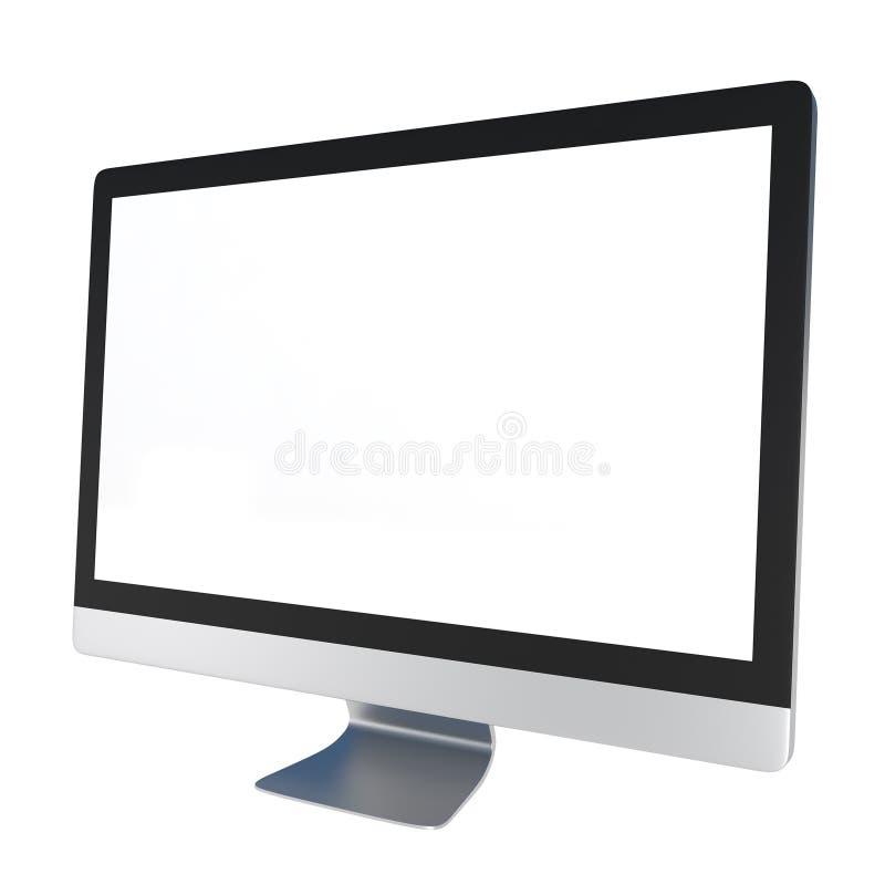 Computer-Überwachungsgerät getrennt auf Weiß stock abbildung