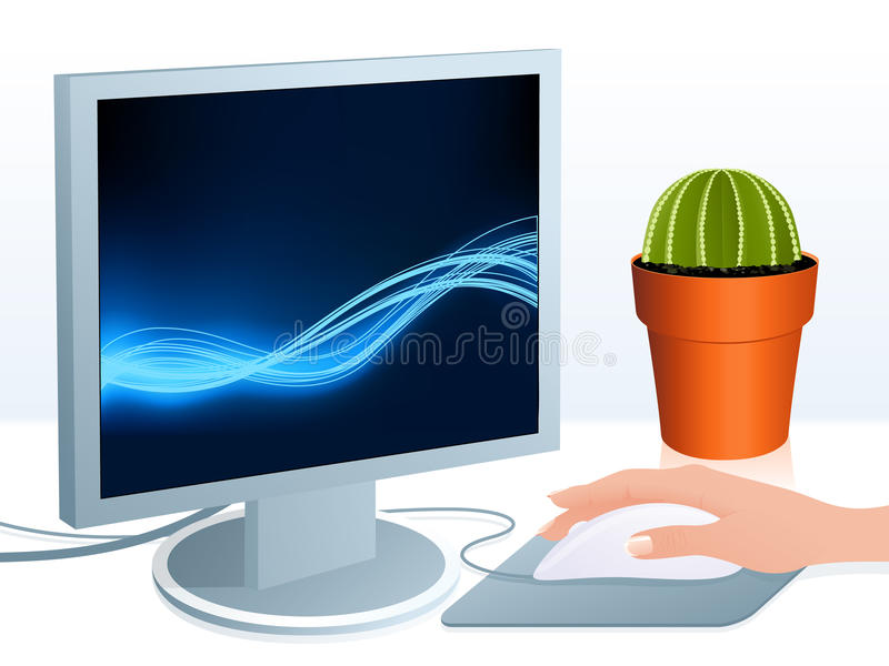 Computer vector illustratie