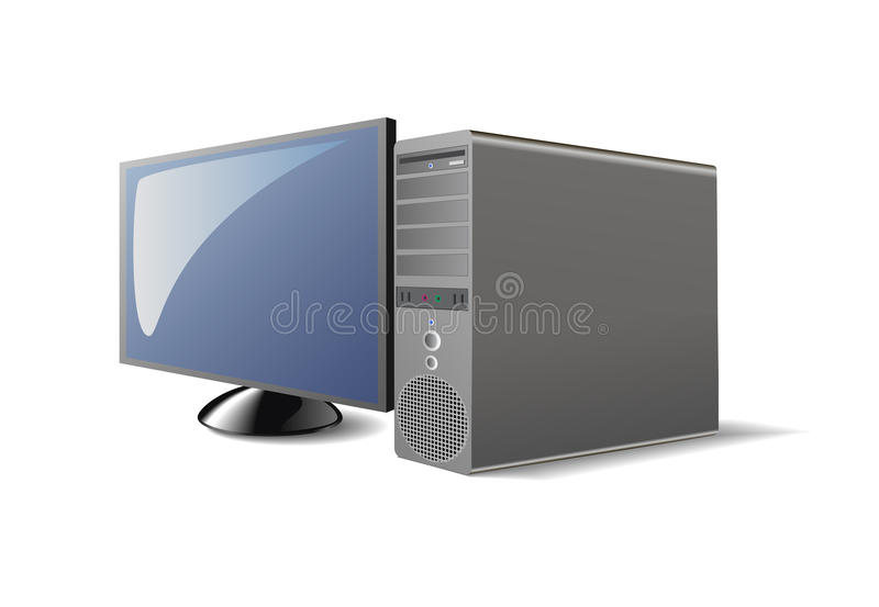 Download Computer. stock vector. Image of screen, computerization - 18072160
