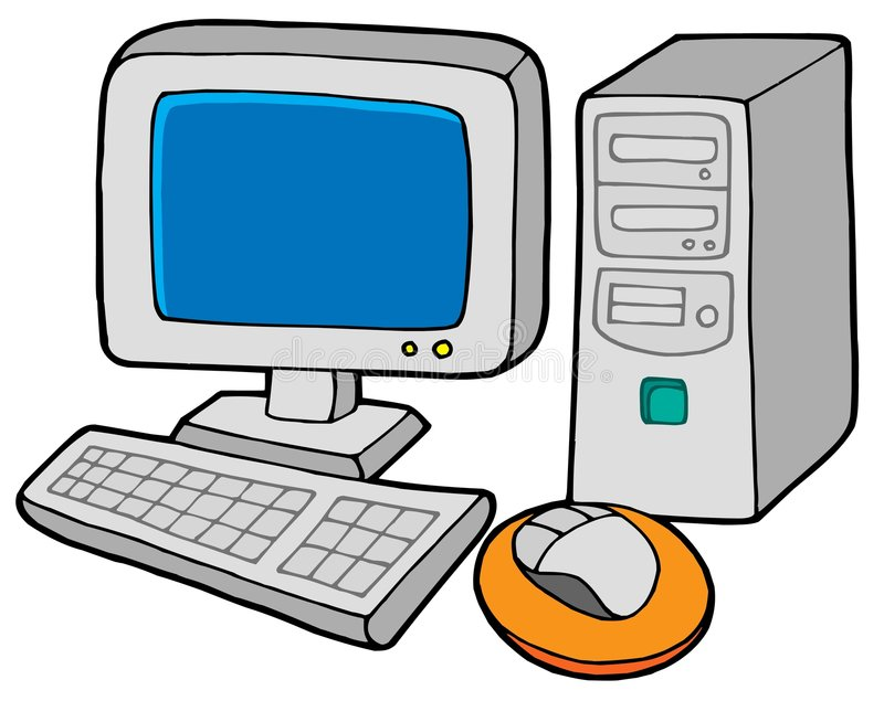 Computer 2 vector illustratie