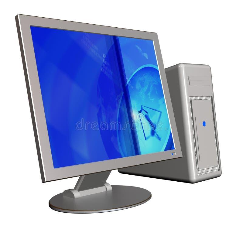 Computer 3d stockfoto