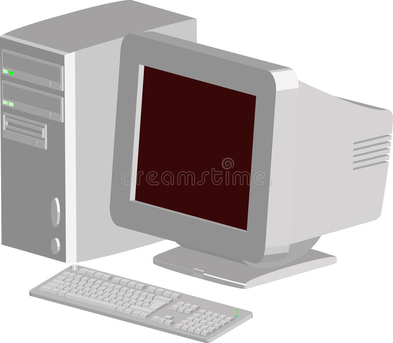 Download Computer stock vector. Illustration of computing, hardware - 834648