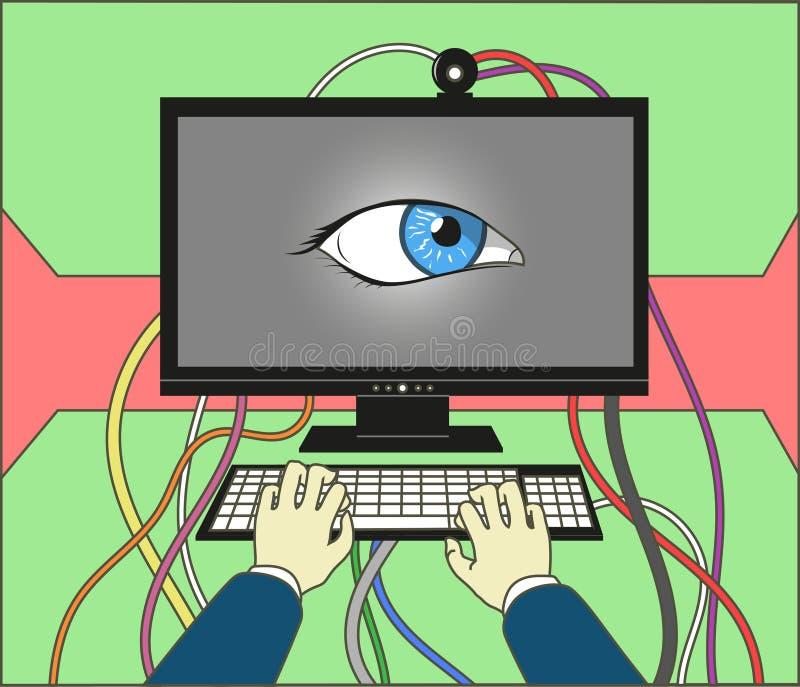 Computer illustrazione vettoriale