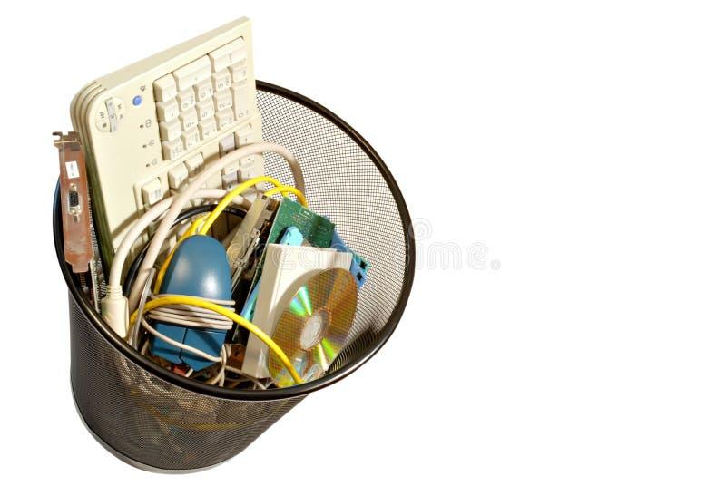Computer-Abfall stockbilder