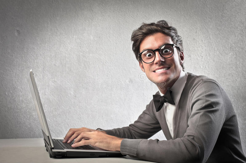 Computer Addicted Stock Photography