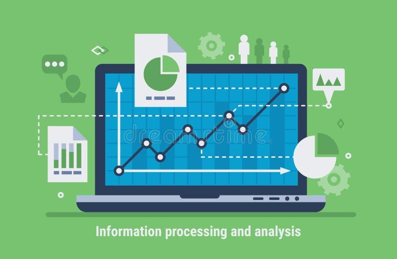 Computer analysis stock illustration