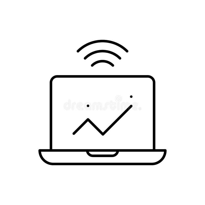 Computer, Analytics, intelligente Ikone - Vektor K?nstliche Intelligenz stock abbildung