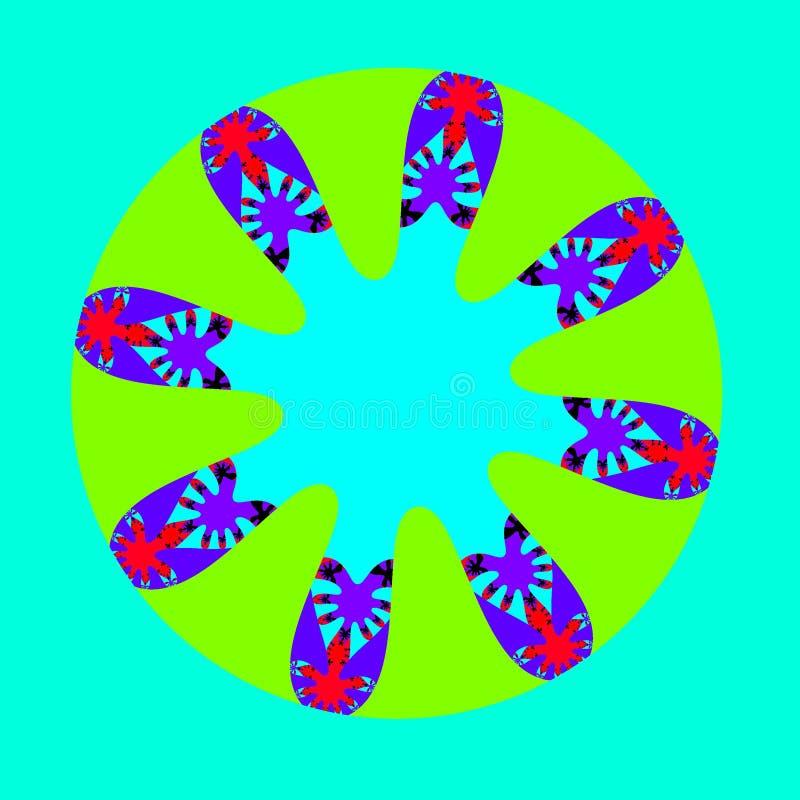 Computer-Animations-Bild des Fractalverhaltens einer mathematischen Funktion, komplexe Zahlen wiederholend Fractals können an gez lizenzfreie abbildung