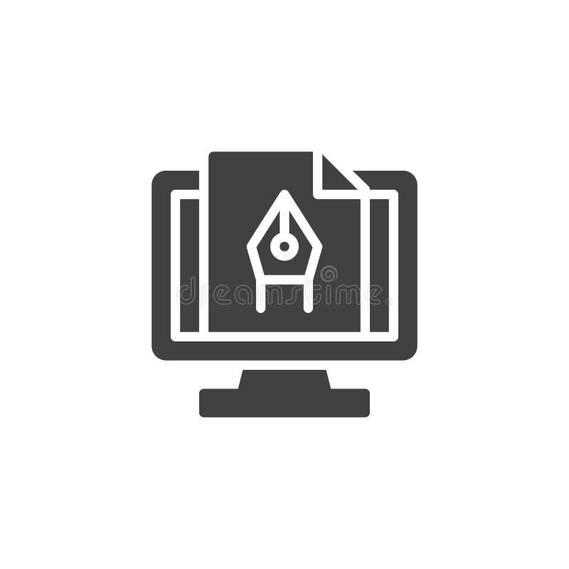 Computer-Animations-Vektorikone lizenzfreie abbildung