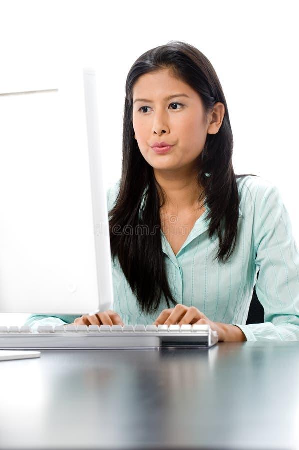 Computer-Arbeit stockfoto