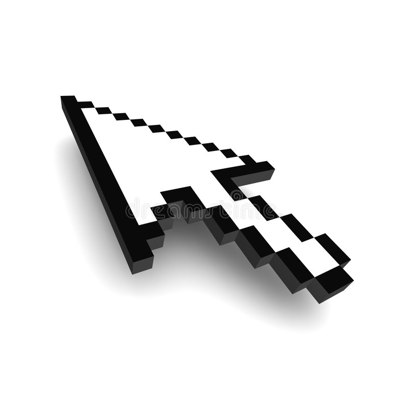 Computer arrow cursor 3d royalty free illustration