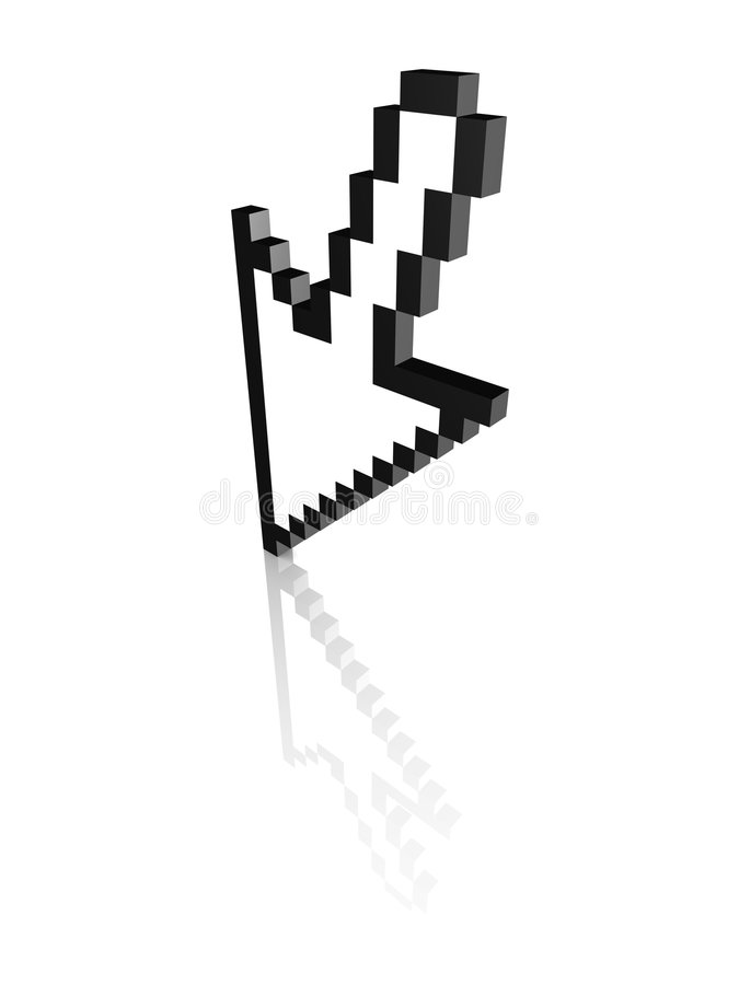Download Computer arrow cursor 3d stock illustration. Image of grid - 6720125