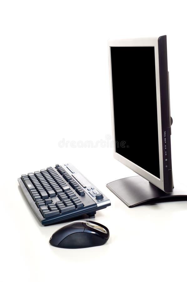 Computer auf weißem Hintergrund lizenzfreie stockfotografie