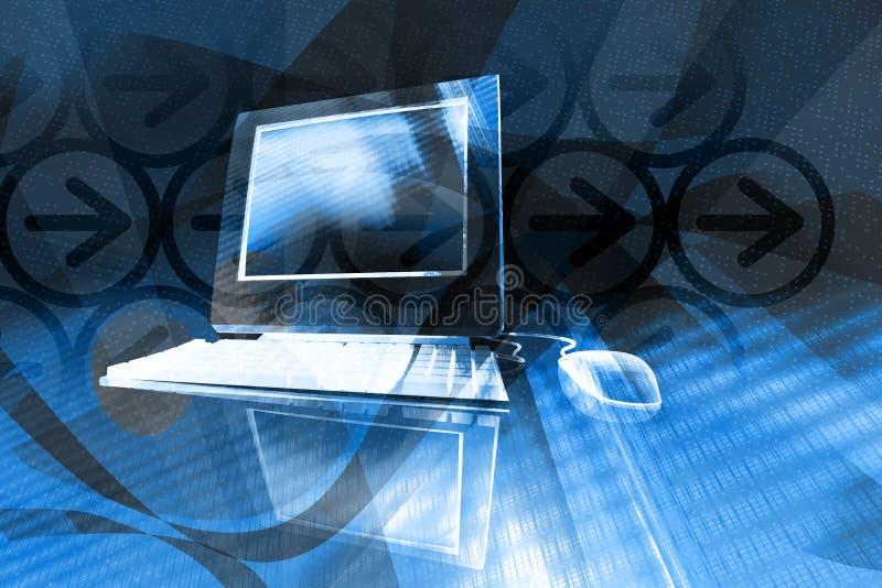 Computer background vector illustration