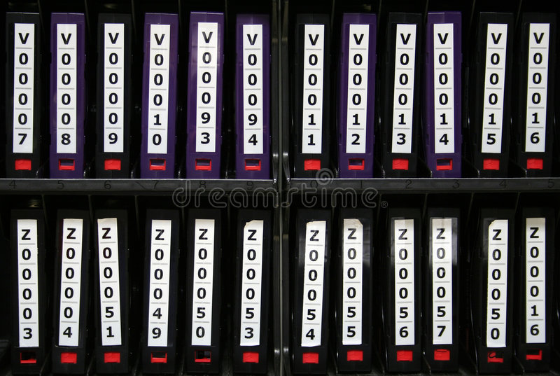 Computer-backupbänder lizenzfreies stockbild