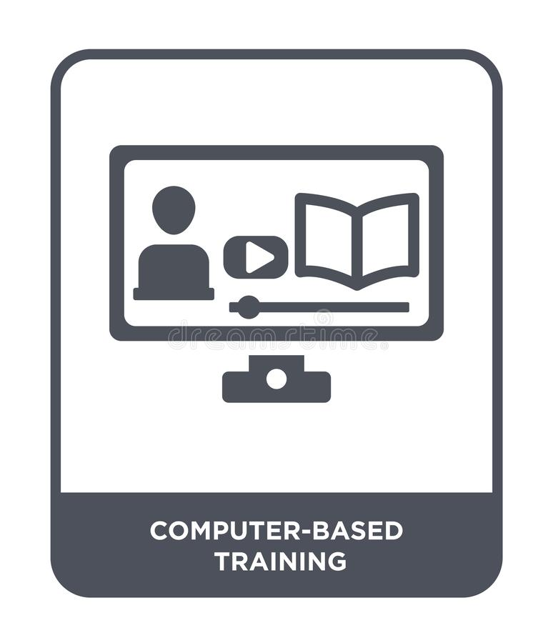 Computer-based training icon in trendy design style. computer-based training icon isolated on white background. computer-based. Training vector icon simple and vector illustration