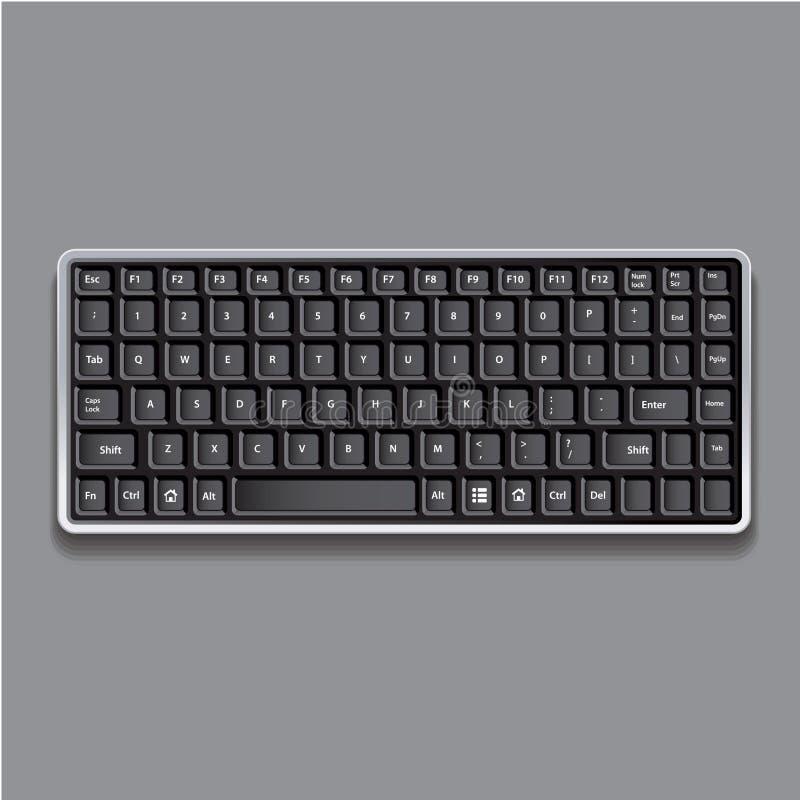 Computer keyboard. Vector. Computer black keyboard. Vector isolated vector illustration