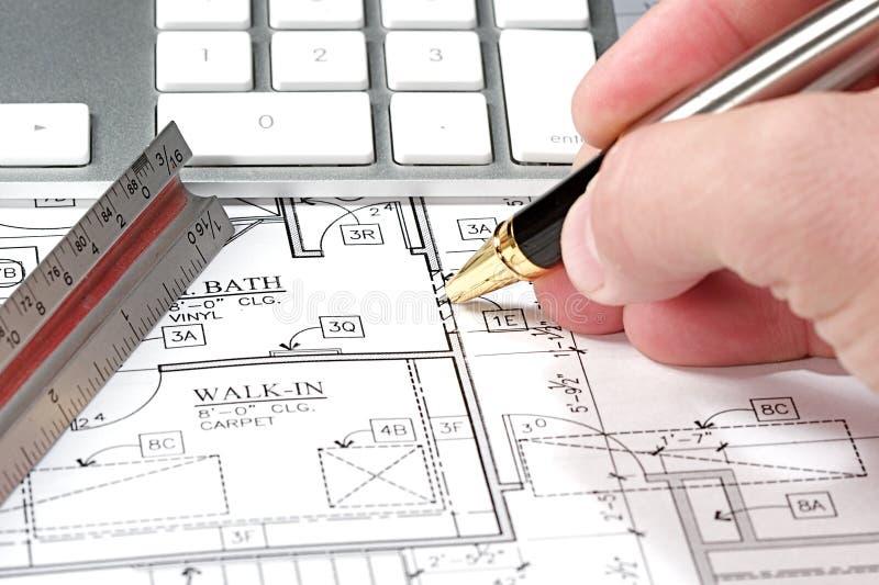 Computer Blueprint stock photos