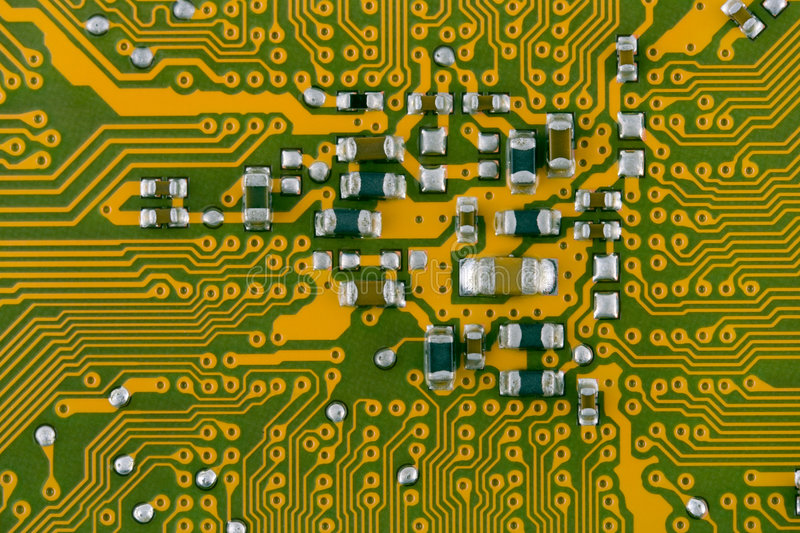 Computer board looks like a city map royalty free stock photo
