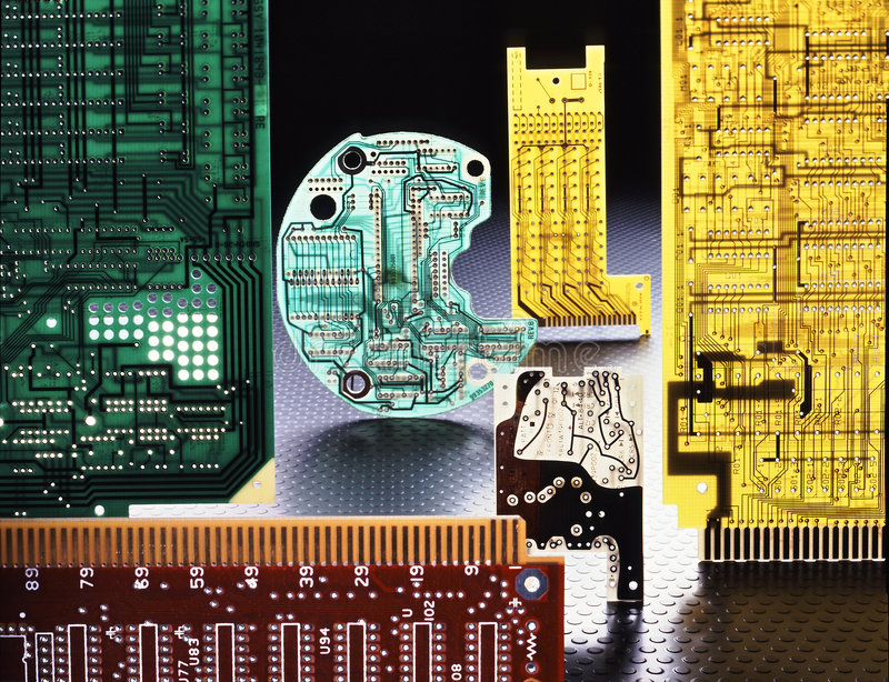 Computer boards stock images